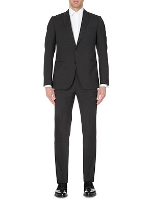 ARMANI COLLEZIONI Single-breasted slim-fit wool suit