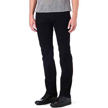 ARMANI Slim stretch-denim jeans (Black