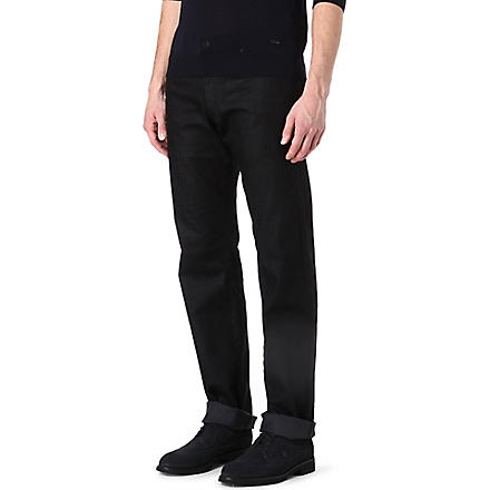 ARMANI J15 slim-fit straight jeans (Black