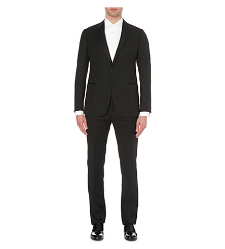 ARMANI COLLEZIONI Modern-fit wool suit (Black