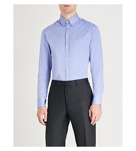 fit blue Modern EMPORIO ARMANI twill Sky EMPORIO shirt ARMANI cotton wqgIIH6