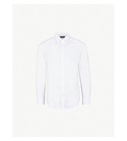 EMPORIO ARMANI 摩登版型棉衬衫 (白色 2