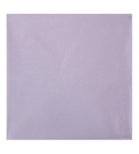 EMPORIO ARMANI Solid twill silk pocket square (Lilac