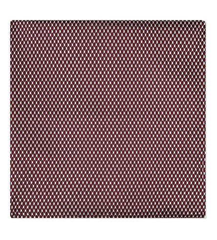 EMPORIO ARMANI Honeycomb silk pocket square (Bordeaux