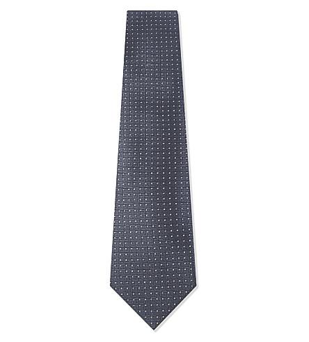 EMPORIO ARMANI Micro-dot silk tie (Grey