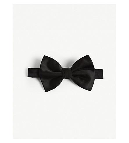 EMPORIO ARMANI Solid silk bowtie (Black
