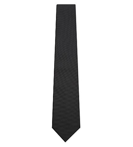 ARMANI COLLEZIONI Twill silk tie (Black