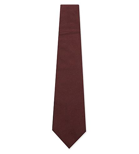 ARMANI COLLEZIONI Silk diamond tie (Bordeux