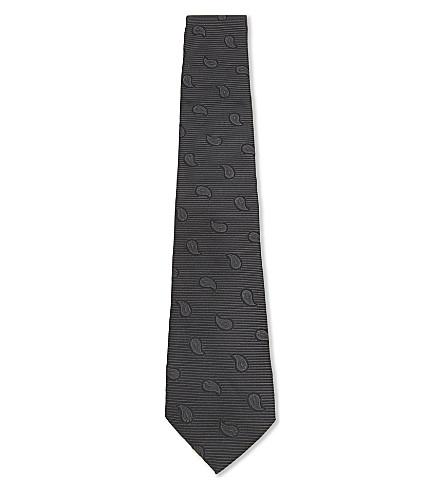 ARMANI COLLEZIONI Silk teardrop tie (Black