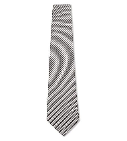ARMANI COLLEZIONI Silk striped tie (Silver