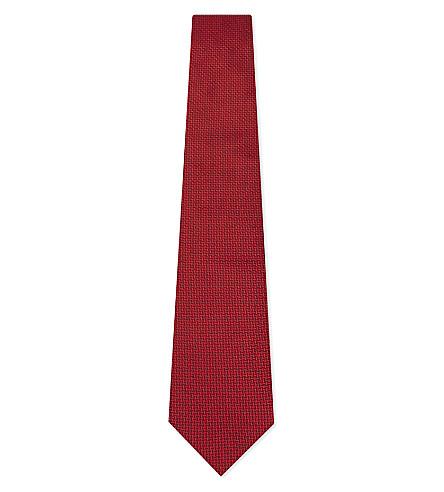 ARMANI COLLEZIONI Herringbone silk tie (Lilac