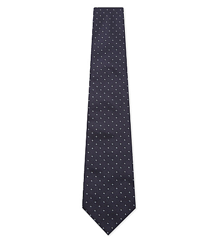 ARMANI COLLEZIONI Diamonds silk tie (Navy
