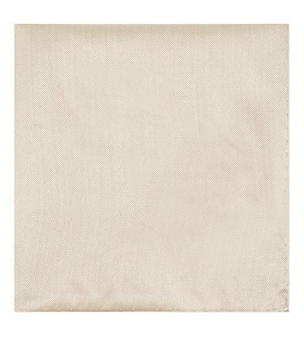 ARMANI COLLEZIONI Silk pocket square (Champaign