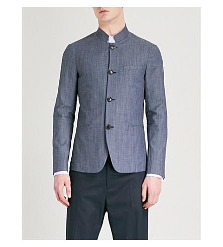 EMPORIO ARMANI Regular-fit stretch-cotton jacket (Denim