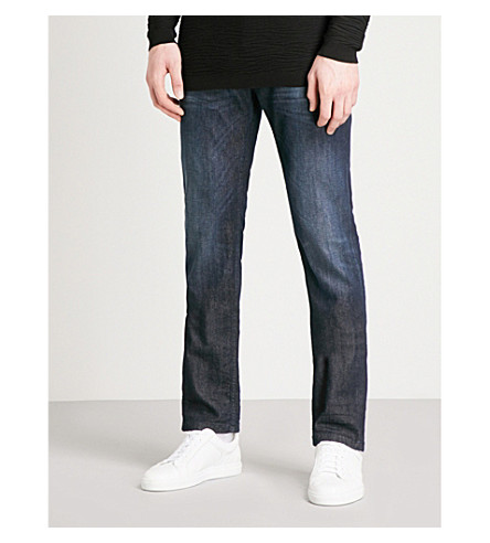 EMPORIO ARMANI Regular-fit straight jeans (Indigo