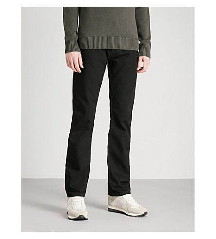 EMPORIO ARMANI J15 regular-fit straight jeans (Black