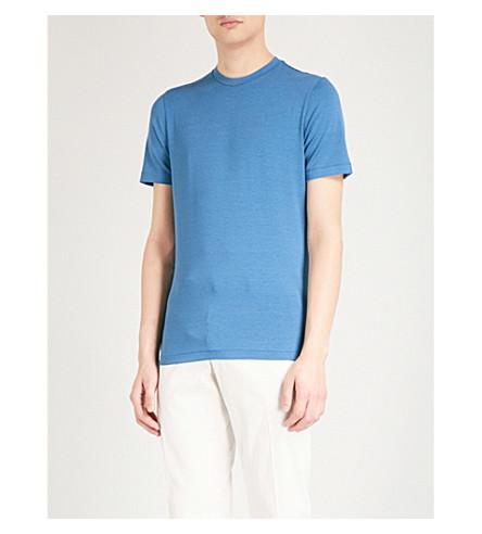 EMPORIO ARMANI Striped jersey T-shirt (Mid+blue