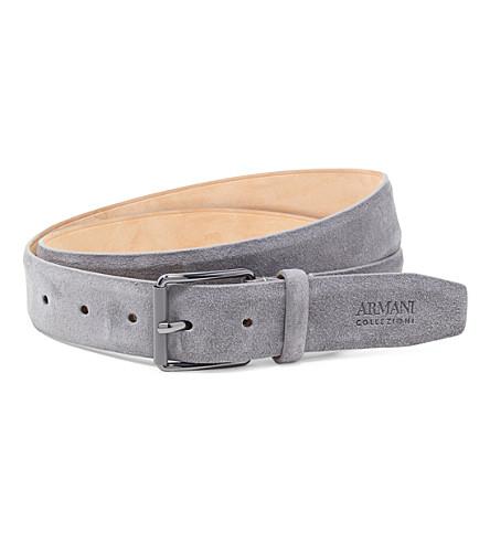 ARMANI COLLEZIONI Suede belt (Grey