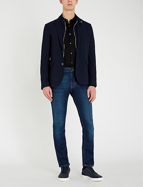 EMPORIO ARMANI Slim-fit cotton shirt