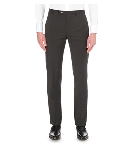 ARMANI COLLEZIONI Regular-fit wool trousers (Grey
