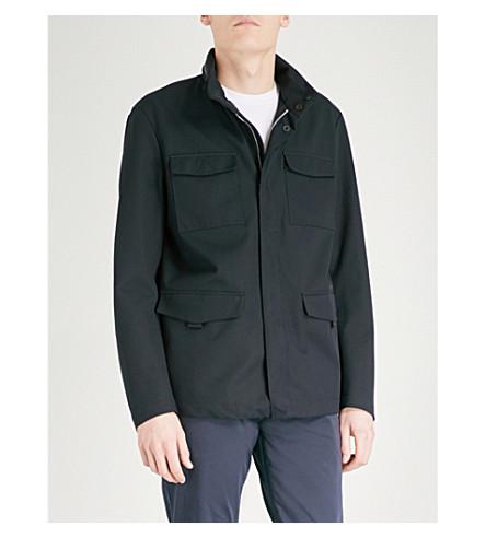 ARMANI COLLEZIONI Pocket-detail twill jacket (Navy
