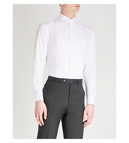 EMPORIO ARMANI Regular-fit cotton shirt (White