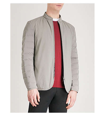 EMPORIO ARMANI Quilted padded shell jacket (Beige