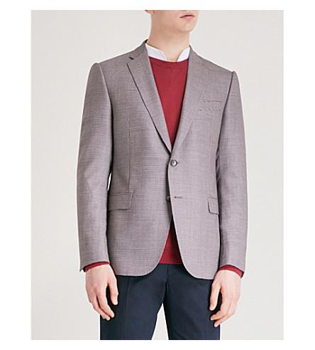 EMPORIO ARMANI Regular-fit wool suit jacket (Red