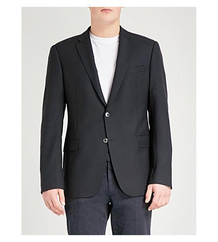 EMPORIO ARMANI M-line wool jacket (Navy