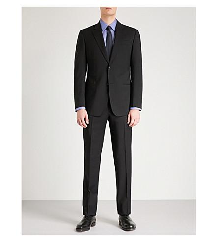 EMPORIO traje ARMANI negro fit de lana G rtrF6qw1