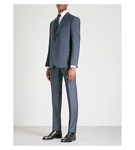 EMPORIO ARMANI M-Line fit wool suit (Blue