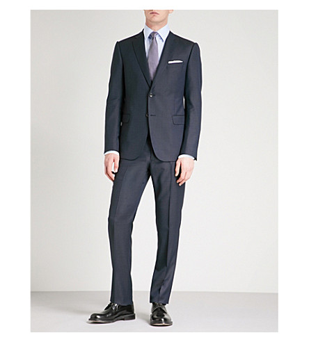 EMPORIO ARMANI M-Line fit wool suit (Navy