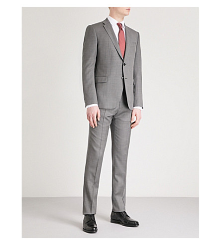 EMPORIO ARMANI Modern-fit wool suit (Grey