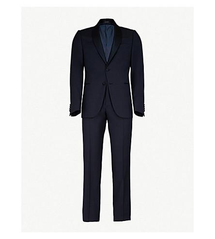EMPORIO ARMANI Tailored-fit wool tuxedo (Navy