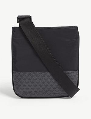 40e294005499 EMPORIO ARMANI Logo-print faux-leather cross-body bag