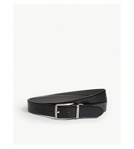 ARMANI COLLEZIONI Reversible leather belt (Black/grey