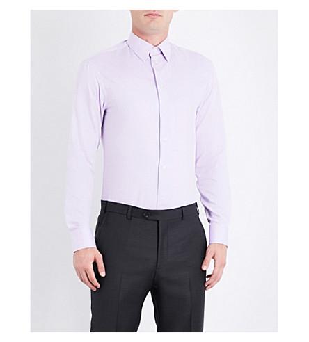 ARMANI COLLEZIONI Modern-fit cotton shirt (Lilac