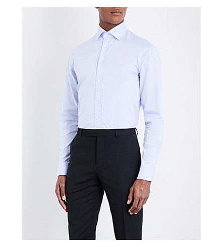 ARMANI COLLEZIONI Modern-fit cotton shirt (Sky