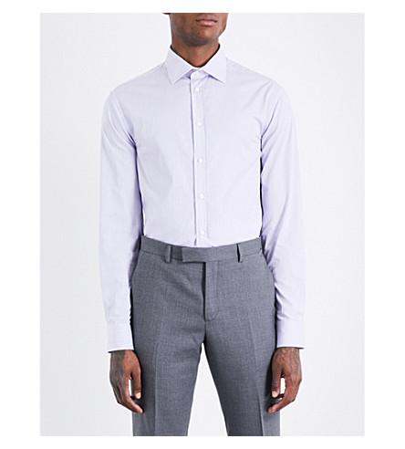 ARMANI COLLEZIONI Striped modern-fit cotton shirt (Pink
