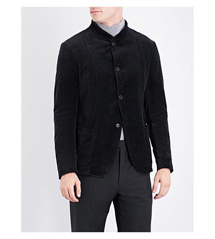 ARMANI COLLEZIONI Herringbone velvet jacket (Grey