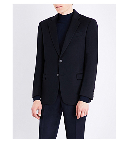 ARMANI COLLEZIONI Regular-fit cashmere jacket (Navy