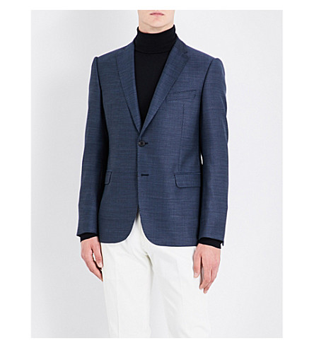 ARMANI COLLEZIONI Slim-fit wool jacket (Blue