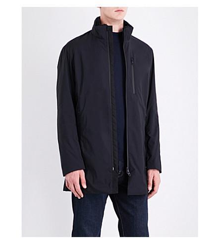 ARMANI COLLEZIONI Faux-fur-lined quilted raincoat (Black