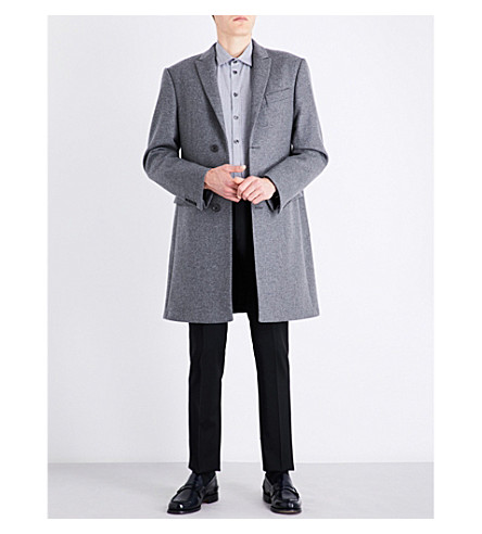 ARMANI COLLEZIONI Academy-fit wool and cashmere-blend coat (Grey
