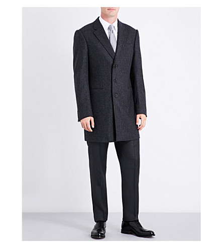 ARMANI COLLEZIONI Classic regular-fit wool coat (Grey
