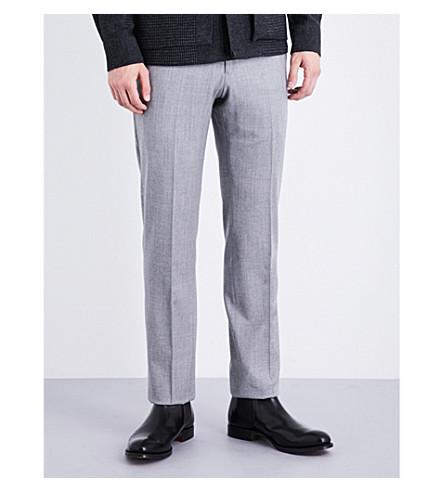 ARMANI COLLEZIONI Modern-fit stretch-wool trousers (Light+grey