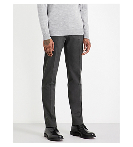 ARMANI COLLEZIONI Regular-fit stretch-cotton chinos (Forest