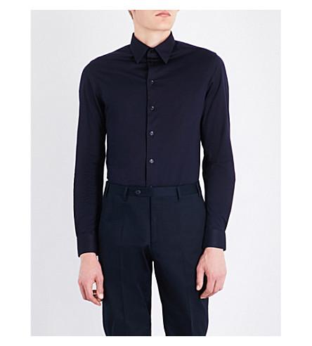 EMPORIO ARMANI Modern-fit cotton shirt (Navy