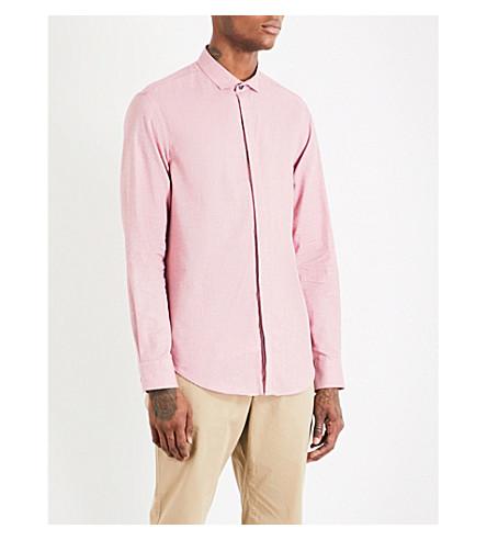 ARMANI COLLEZIONI Tonal cotton shirt (Red