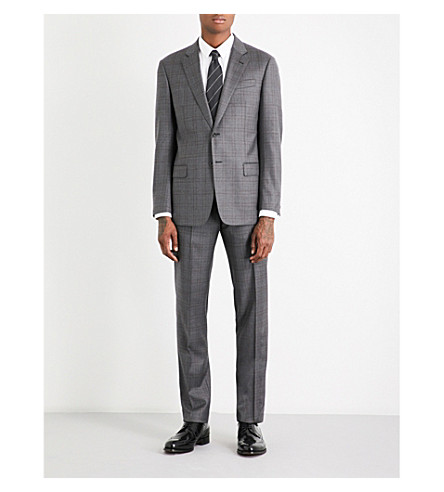 ARMANI COLLEZIONI Checked wool suit (Grey